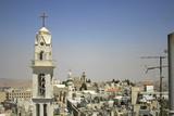 church tower bethlehem, west bank, palestine, israel poster