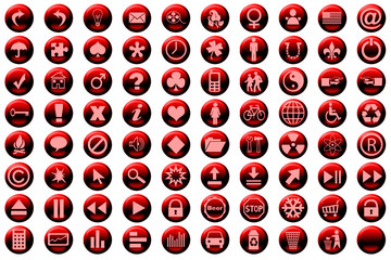 web icon set red
