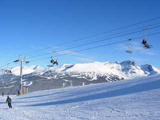 Ski Chair Lift at Whistler, Canada