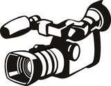 Video camera stencil style poster