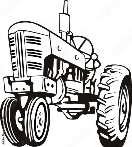 u0026quot tractor black and white u0026quot  stock image and royalty