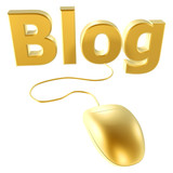golden mouse and blog poster