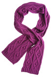 Violet wool scarf poster