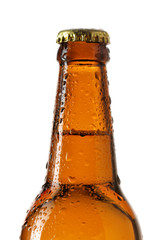 Neck of beer bottle