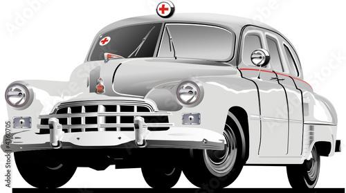Wektor retro ambulansu