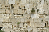 cut out of the wailing western wall, jerusalem, israel poster