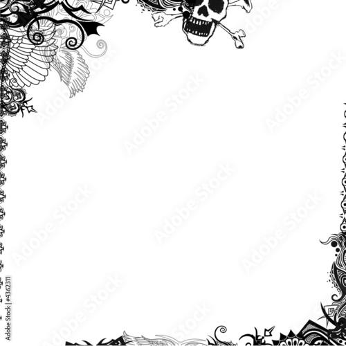 Cadre noir et blanc de symboles photo libre de droits sur la banque d 39 images for Cadre noir et blanc