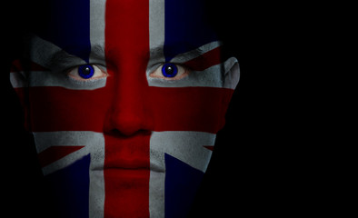 British Flag - Male Face