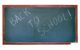 Green blackboard with Back To School writing poster