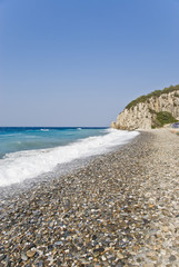 Beach on the Samos Island, Greece
