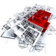 appartement block rouge A