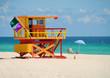Leinwandbild Motiv Lifeguard station on Miami Beach