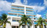 Art Deco style building in Miami Beach, Florida poster