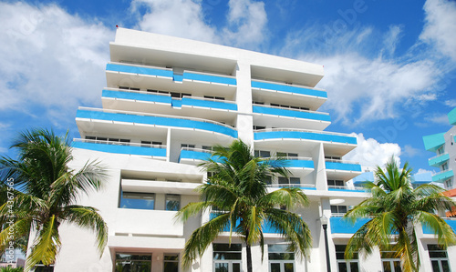 Art Deco style building in Miami Beach, Florida