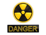 Danger radioactive sign poster