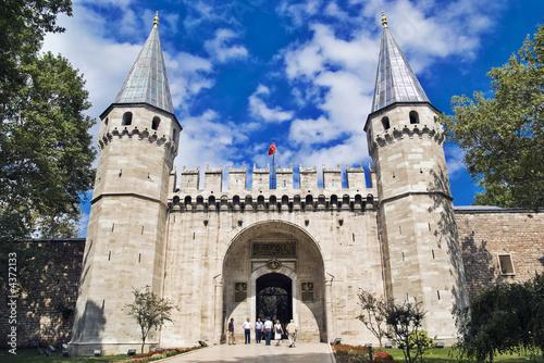 Leinwandbild Motiv The Gate of Salutation, Topkapi Palace, Istanbul