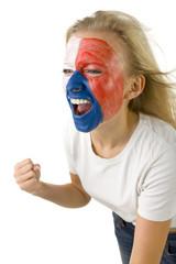 Female Czech sports fan