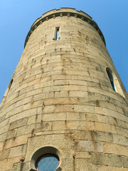 Stone tower of old castle