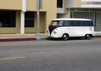 Classic Camper Van on LA street