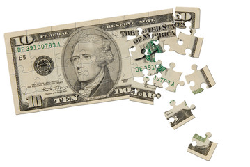 Ten dollar bill puzzle