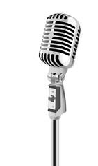 Retro Microphone (vector)