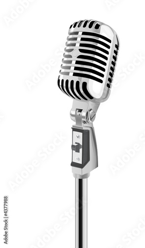 Retro Microphone (vector) - 4377988