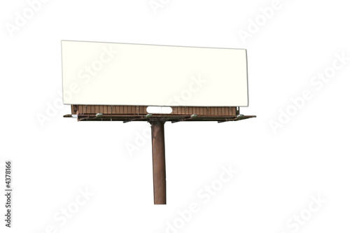 Isolated Billboard Blank