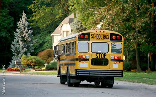 School Bus in Neighborhood - 4378302
