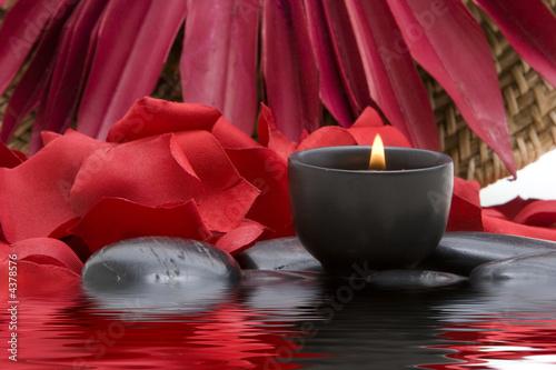 Leinwanddruck Bild - MAXFX : Spa candle