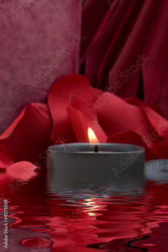 canvas print picture Spa candle