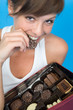 Girl mit Schokolade