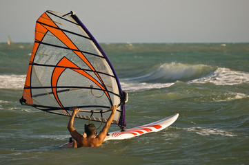 Windsurf water start