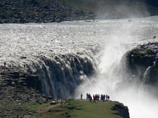 Puissantes chutes d'eau en Islande