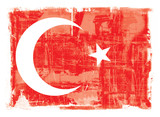 Turkish national flag poster