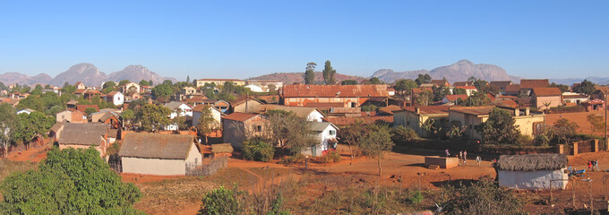 Magalasy village, Ambalavao, Madagascar, Panoramique