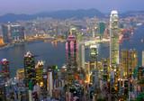Blick auf Hong Kong am abend-