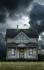 Old Farmhouse Stormy Sky