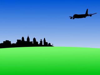 plane flying to Philadelphia