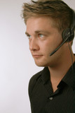 Handsome Man with Headset poster