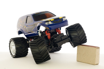 guided by radio model of speed car