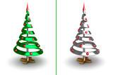Conceptual christmas tree poster