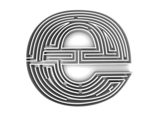 symbol for internet. Labyrinth