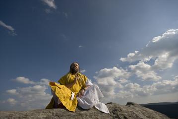Gelber Mönch gibt Bergsegen
