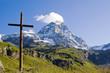 Matterhorn mit Kreuz