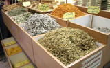 camomile and other herbs and spices on display poster
