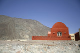 red dome styled house in the red sea region, sinai, egypt poster