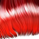Crazy red wig poster
