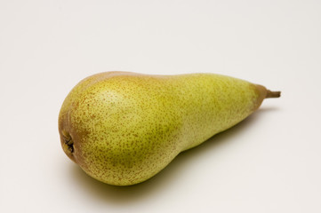 one yellow-green pear