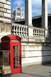 London telephone booth beside Victoria and Albert Museum