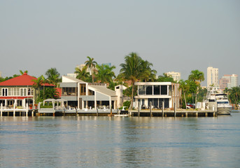 Luxury upscale neighborhood in Florida
